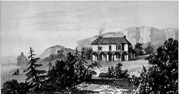 Painting of the Sandrock Hotel by WB Cooke