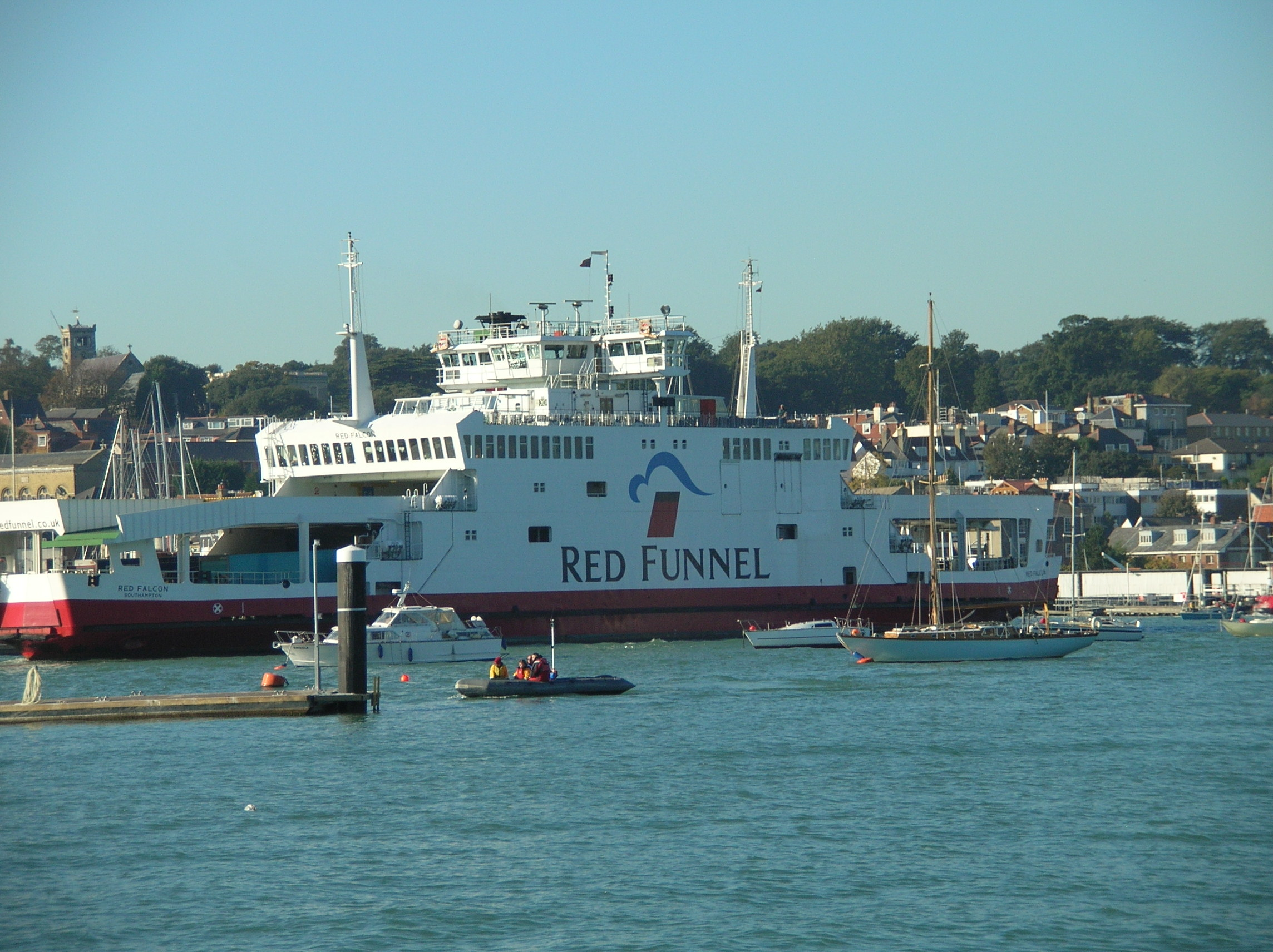Red Funnel ferry at East Cowes