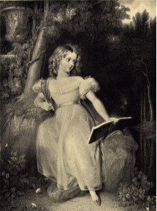 Engraving of Princess Victoria from the Westall painting