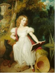 Painting of Princess Victoria by Westall