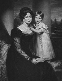 Painting of the Duchess or Kent and Princess Victoria