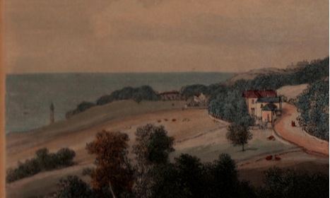 Painting of the Undercliff showing Southcliff by Westall