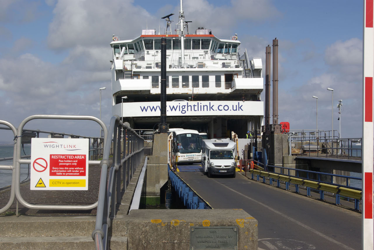 Wightlink Ferry at Fishbourne